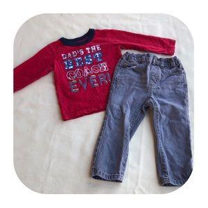 6/$15 18-24M Children's Place top & jeans